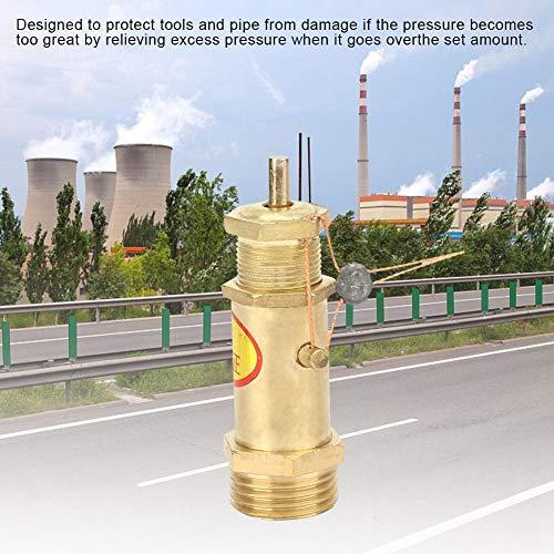 Veiligheidsklep, G1 / 2 luchtcompressor veiligheidsklep messing voor boiler stoomgenerator (10 kg)