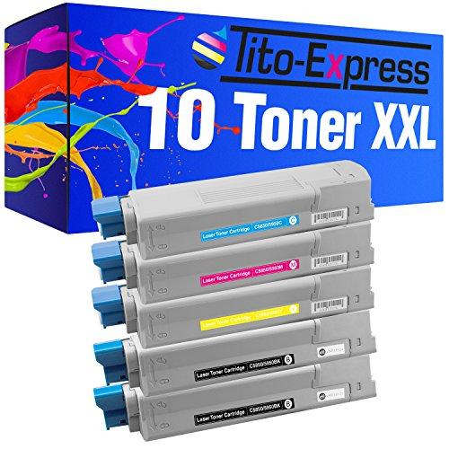Tito-Express PlatinumSerie 10x Toner-Kartusche XXL für Oki C5950 C5950 CDTN MC560 N MC560 DN