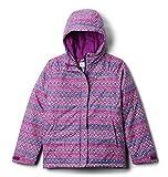 Columbia Girls' Big Horizon Ride Jacket, Plum Diamond Stripe Print, Medium