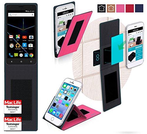 reboon Hülle für Archos 50d Oxygen Plus Tasche Cover Case Bumper | Pink | Testsieger