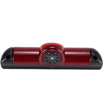 HD C/ámara de visi/ón Trasera integrada en la Tercera luz de Freno Transporter c/ámara espec/ífica del veh/ículo para Transporter Citroen Jumper FIAT DUCATO Peugeot Boxer Citroen Relay 35 06-17