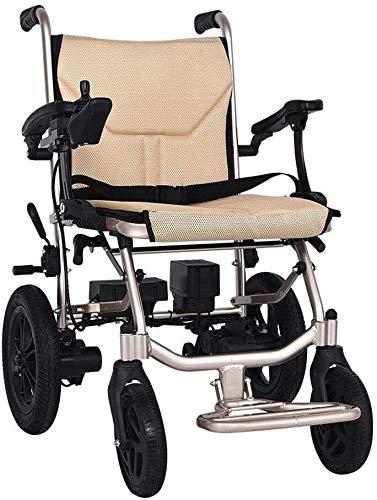 SOAR Electric Wheelchair Elektrorollstuhl Leichter Faltbarer elektrischer Rollstuhl, Leichter Rollstuhlfahrt mit Strom oder Gebrauch als manueller Rollstuhl Zwei 190W Motors