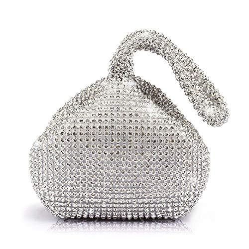 Women Purse Women's Evening Bag Triangle Design Full Rhinestones, Small Size