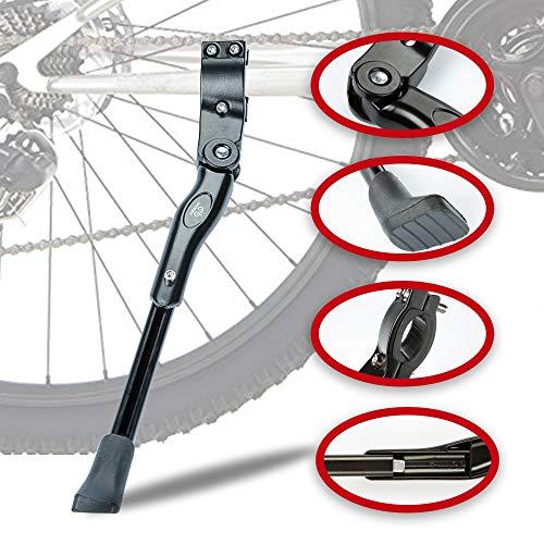 LYCAON Fahrradständer Fahrrad Seitenständer Aluminiumlegierung Einstellbarer Fahrradständer mit Rutschfestem Gummifuß, Fahrradständer Hinterbauständer für 22-28 Zoll Mountainbike/Rennrad/BMX/MTB