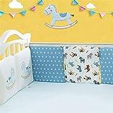 Babybett Kinderbett Bumper Pads Bettwäsche Set Kissen Kissen Safety Collision Barrier Cotton Pillow...