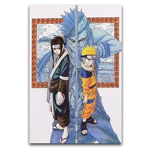 Naruto Haku Zabuza Anime Poster Decorativo Lienzo De Pared Arte Sala De Estar Cartel Dormitorio Pintura 12''×18''(30*45cm)