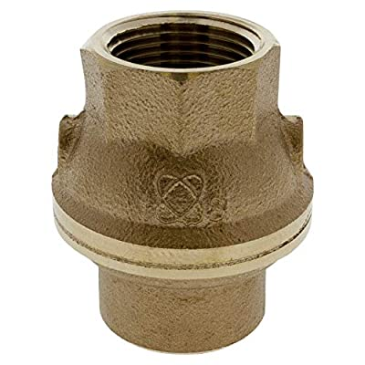 """NIBCO NL931xA Silicon Bronze Lead-Free Check Valve, Inline, PTFE Seat, 1"""" Female NPT Thread (FIPT) from NIBCO"""