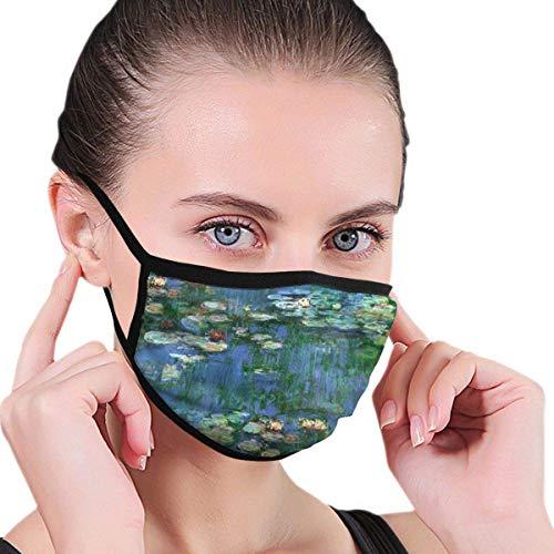 Lilien Claude Monet Wasser Männer Frauen Kinder Teens Print Mode Waschbar Wiederverwendbarer Ohrwärmer für die Gartenarbeit