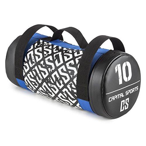 Capital Sports Toughbag Power Bag Sandbag Sacco Sabbia per Migliorare Forza e Resistenza (10 kg Max, Pelle Sintetica, 3 Prese Resistenti in Nylon balistico)