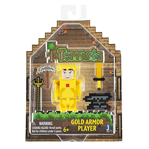 Terraria Gold Armor Player Toy with Accessories by Terraria