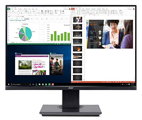 Acer B7 25' Widescreen LCD Monitor Full HD 1920 x 1080 4ms 75 Hz 300 Nit IPS (Renewed)