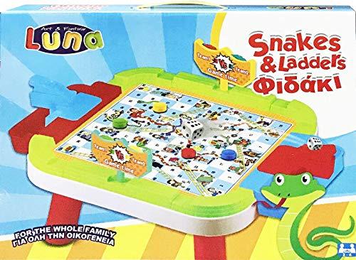 Luna Spieltisch mit Brettspiel Leiterspiel Kinderspiel +3J
