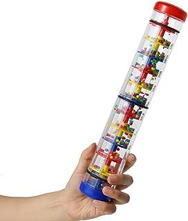 Rainmaker 12 inch Rain stick for babies Rattle Tube Rain Stick Shaker Music Sensory Auditory Instrument Toy For baby child girl (12 inch)