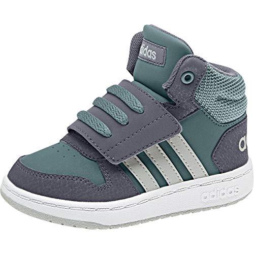 adidas Hoops Mid 2.0, Zapatillas Unisex Niños, Verde (Rawgrn/Ashsil/Onix Rawgrn/Ashsil/Onix), 18 EU