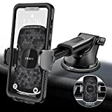 1Zero Car Phone Holder Mount, Super Stronger Suction Cup Car Phone Holder, [Rotatable & Retractable] Universal Car Phone Mount Dashboard Windshield Vent Compatible for iPhone Samsung Most Smartphones