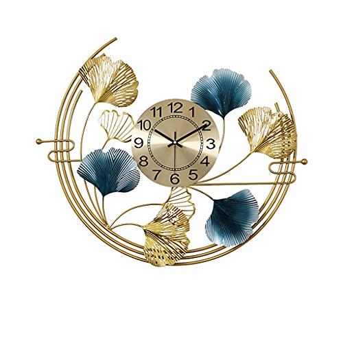 ZXYZB. Orologio da Parete in Stile Cinese Orologio da Parete con meccanismo Moderno in Metallo Digitale Silenzioso, Soggiorno, Decorazioni per la casa