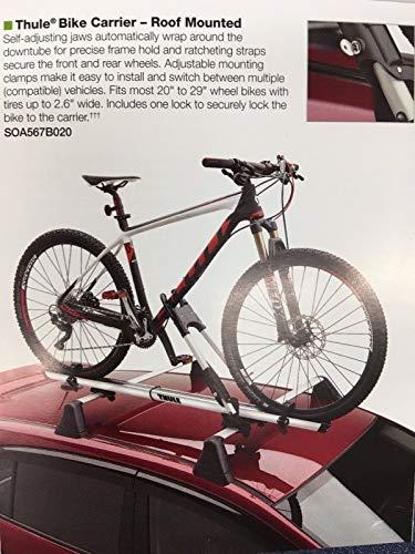 Subaru Forester Impreza Outback Ascent WRX STi Crosstrek 2008-2020 Roof Bike Rack OEM New Thule