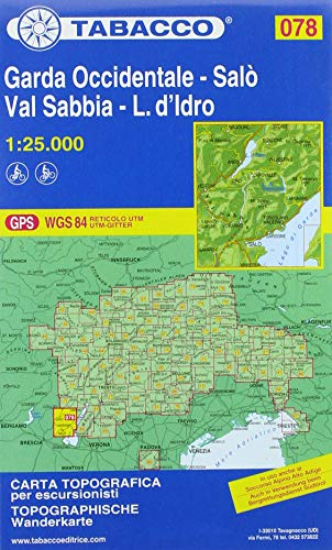 Garda Occidentale. Salò. Val Sabbia. Carta topografica in scala 1:25.000: Salo - Val Sabbia Wanderkarte: 78