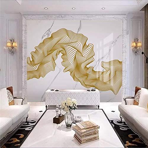 kengbi Impermeable fácil aplicación Fondo de Pantalla ext Líneas de mármol de Oro murales de Encargo del Papel Pintado Abstracto del Jazz Piedra Blanca decoración Papeles de la Pared de Fondo casa