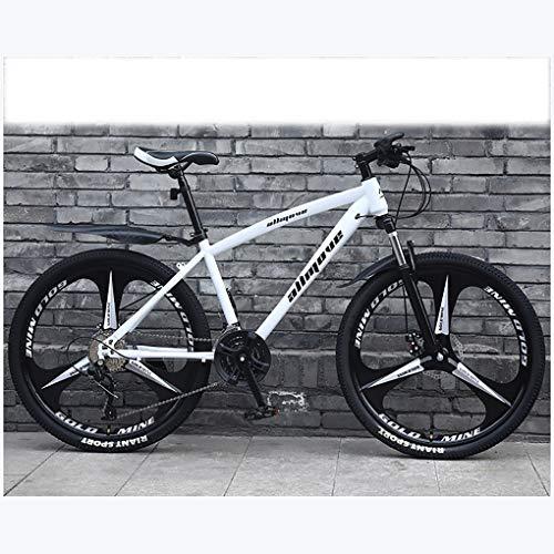 ZTMN Bicicleta de montaña de 26 Pulgadas, Bicicleta de montaña de Cola Dura con Freno de Disco Doble para Hombres, Asiento Ajustable para Bicicleta, 21 velocidades