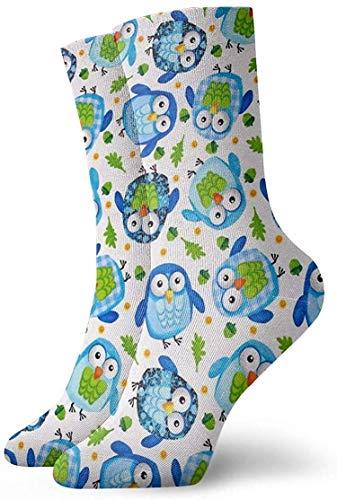 REordernow Chaussettes Chouettes Respirantes Unisexe Athlétique Chaussettes Chaussettes Bas Casual Coton Cheville Chaussettes 30cm