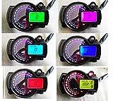 SAMDO Motorcycle Speedometer 299 Kmh Mph 7 Color 14000RPM Tachometer ATV Quad Frenzy Universal Digital Speedometer