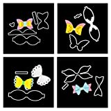 Meslio 4pcs Bow Tie Cutting Dies, Bows Die Stencil Die Cuts Embossing Scrapbooking Paper Card Decor Craft for Card Making DIY Bow Craft and Gift Wrapping