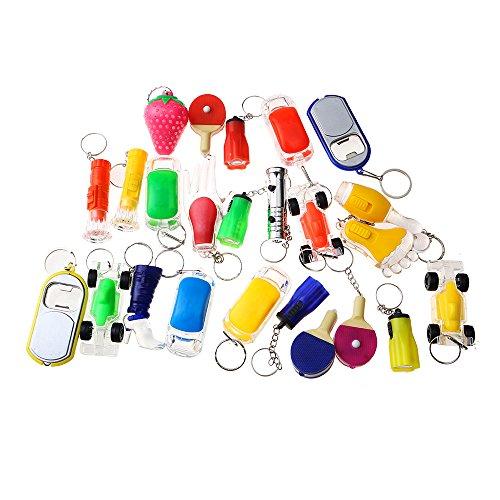 Beyond Dreams® Lot de 13 Mini Lampes de Poches | LED Porte-clés pour Enfants et Adultes | Mini Lampe avec lumière Clignotante | Lumineux Multicolore Différents modèles | garçons et Filles | Set Jouet