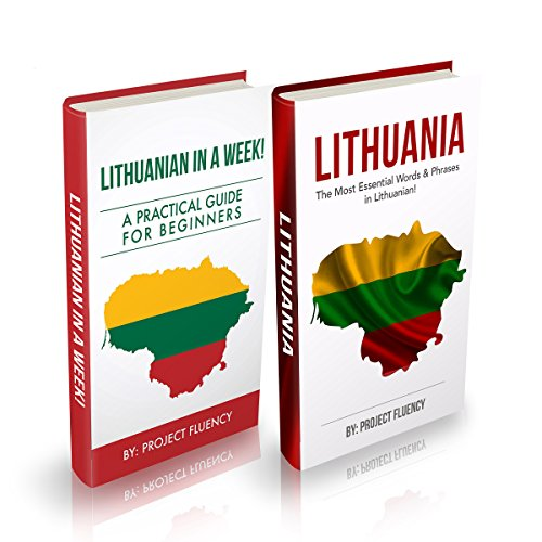 Lithuanian: Lithuanian for Beginners, 2 in 1 Book Bundle audiobook cover art