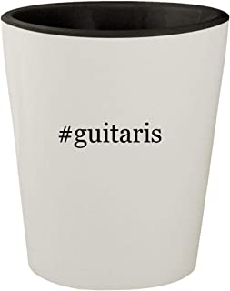#guitaris - White Outer & Black Inner Hashtag Ceramic 1.5oz Shot Glass