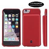 YFish iPhone 6 6s 7 8 Funda Batería, 4500mAh Batería Externa Recargable 2 en 1 Carcasa de móvil – 4.7 Pulgadas (Rojo 5.5 para iPhone 7 Plus)