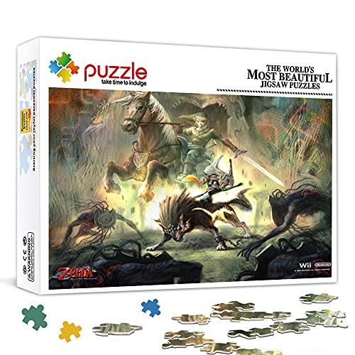 Mini Rompecabezas de 1000 Piezas para Adultos - The Legend of Zelda : Breath of The Wild Impossible Puzzle Marvel- Puzzles Brain Challenge Puzzle para niños