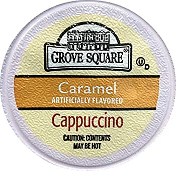 Grove Square Cappuccino Cups Caramel Single Serve Cup for Keurig K-Cup Brewers 48 Count  Packaging May Vary