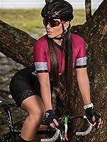 サイクリング服スーツ9Dゲルクッションサイクリング女性トライアスロンサイクリングジャージードレス半袖スーツコンペティション (Color : 1, Size : XX-large)