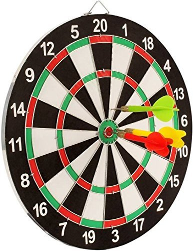 Tickles Double Sided Dart Board Game - with 4 Darts