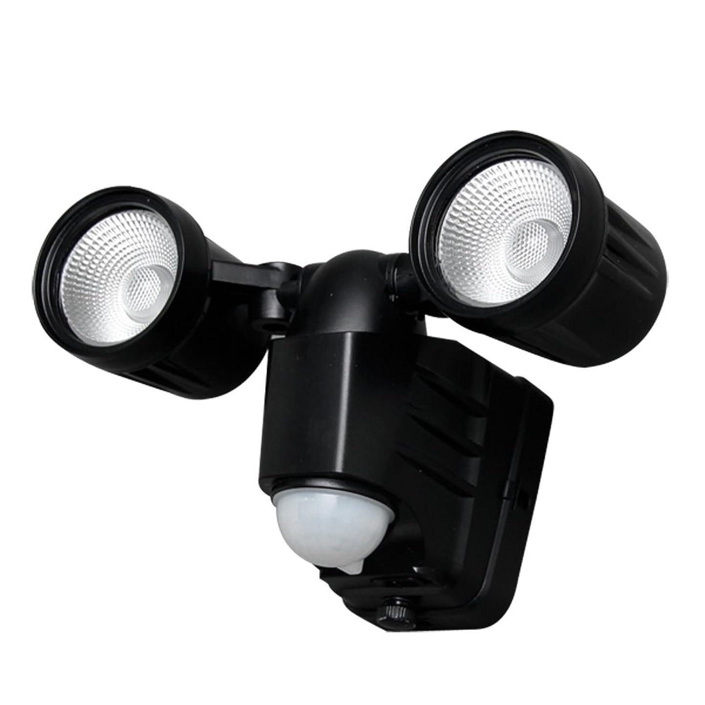 中絶無効にする性格アイリスオーヤマ 乾電池式センサーライト 2灯 電球色 LSL-B3TL-200