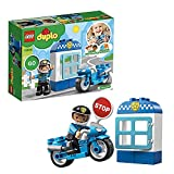 LEGO 10900 Duplo Town Moto de Policía, Juguete para Niños y Niñas +2 Años, Regalo para Bebé de Bloques de Construcción