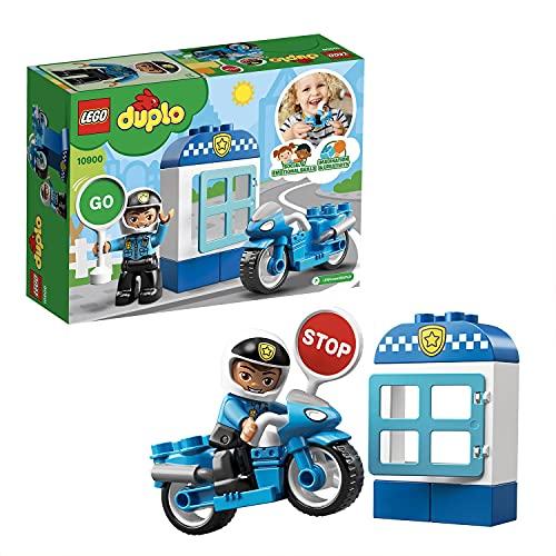 LEGO10900DuploTownMotodePolicía,JuguetedeConstrucciónparaNiñosyNiñas+2añosconMiniFigura