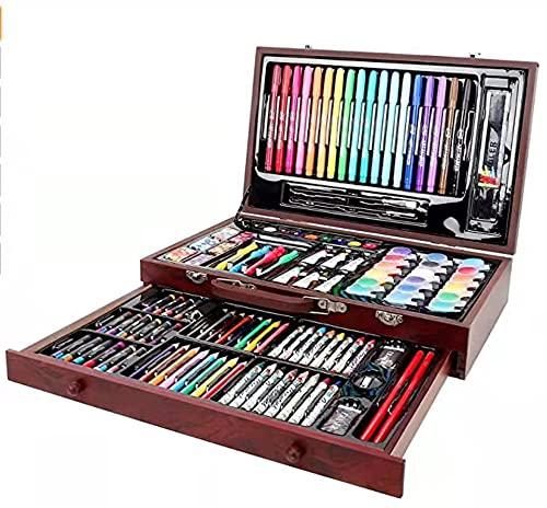 ARTOYS Juego de 123 lápices de colores de madera,lápices de colores, juego de ceras,acuarelas,colores acrílicos, pastel al óleo, juego de artistas,juguetes para niños,regalo para el curso y cumpleaños