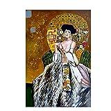 ZFLSGWZ Detalle de la medicina Gustav Klimt carteles e impresiones lienzo arte de la pared impreso cuadros para decoración del hogar regalo -60 x 80 cm sin marco