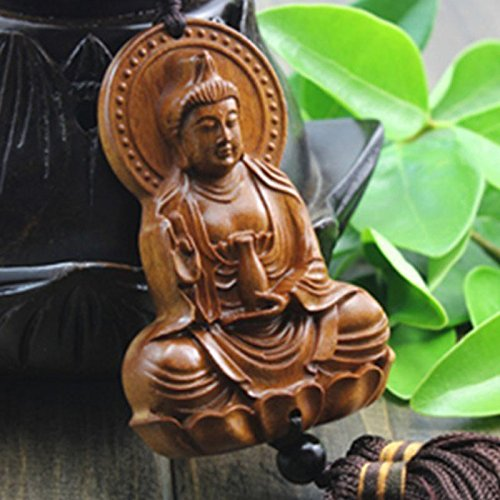 ZZC Car Pendant Decoration Amulets Key Chain Gift Buddha Hanging Ornament for Car Rear View Mirror Decor Ornament Accessories Muslim Good Luck Charm Protection Interior Wall Hanging