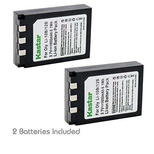 Kastar Battery (2-Pack) for Olympus LI-10B LI-12B and Olympus Stylus 300, 400, 500, 600, 800, C-50, 60, 70, 470, 760, 770, 5000 Camera
