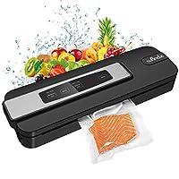 Macchina Sottovuoto per Alimenti, Wancle Sigillatore sottovuoto macchina per alimenti freschi sia secchi che umidi con 10 Sachetti Sottovuoto, 110W