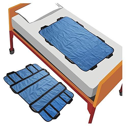 Tabla de transferencia deslizante Cinturón para paciente traslado correa dispositivos asistente cama cinturón transporte pacientes tabla deslizante posicionamiento bariátrico ayuda cuidador de 8 asas