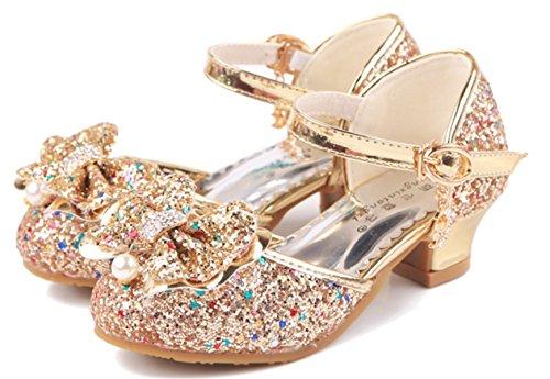 YOGLY Disfraz Princesa Zapatos Tacón Alto Fiesta