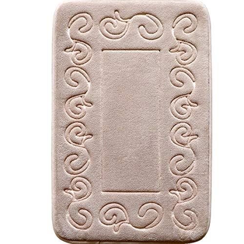 KEAINIDENI Toiletmat Badkamer Anti Slip Tapijt Europese Stijl Langzame Rebound Sponge Pad Badkamer Toiletkussen Absorberende Deurmat Memory Foam Badmat about 50cm x 80cm Tuose