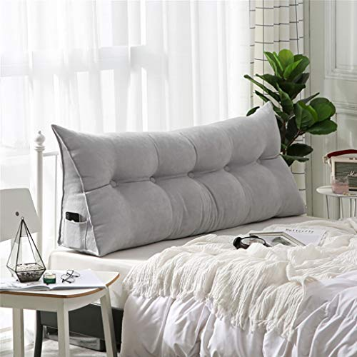 Hoofdbord, bed, achterkussen, leeskussen, hoofdkussen, driehoekig, Koreaans fluweel, beschermhoes voor bank, groot tweepersoonsbed, achterkant, wasbaar, taille 80*50*20cm Een