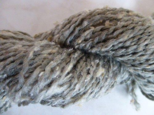 Ironstone Gray with Cream Silk Slubs Soft Dk Tweed Sport Weight Yarn