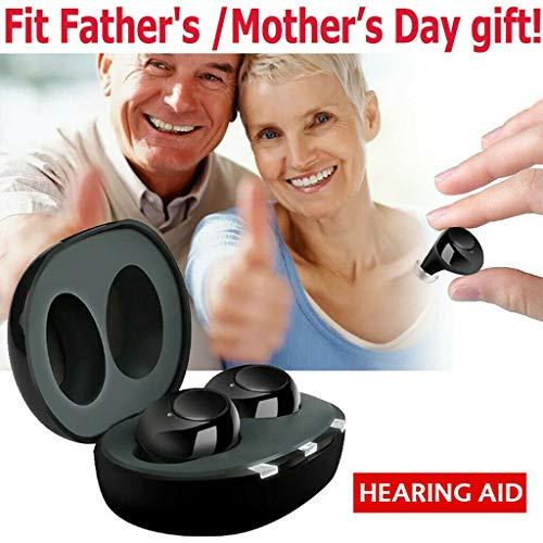 Digitaal geluid versterker met draagbare USB opladen geval, een paar gehoorapparaten, ouderen gehoorapparaten, FDA-certificering, geschikt for mensen met een auditieve beperking, Bluetooth verschijnin