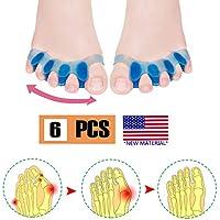 Corrector de juanetes, Separador de dedos, Protectores de alivio de dolor de juanetes, Enderezadora de dedos de gel y gel de silicona. Alivio de dolor de pies.